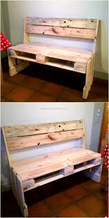 diy ideas for wood pallet recycling pallet bench repurposed and