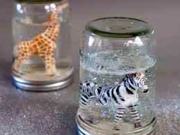 how to make glitter snow globes from mason jars globe snow and