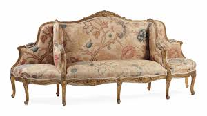 canape a a giltwood canape a confidents of regence style late 19th