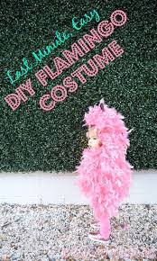 last minute easy diy pink flamingo halloween costume perfect