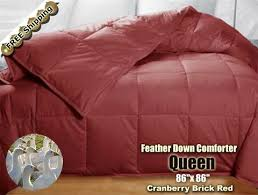 86 X 86 Comforter Colored Queen King 100 Goose Feather Down Comforter High Quality