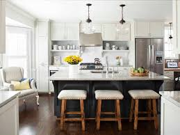 diy kitchen island with seating hexagon tile walls long narrow