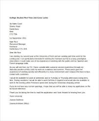 cover letter part time job student 13560