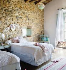 Rustic Bedroom Wall Ideas Exposed Wall In Unusual Places Like In This Children U0027s Room Here