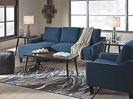 ashley furniture blue sofa jarreau sofa chaise sleeper ashley furniture homestore