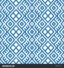 Blue Pattern Background Geometric Seamless Ethnic Pattern Background Blue Stock Vector