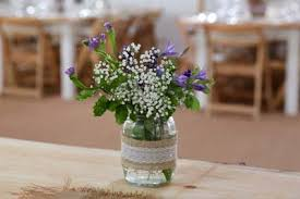 wedding flowers jam jars rustic country wedding ideas the barn at cott farm