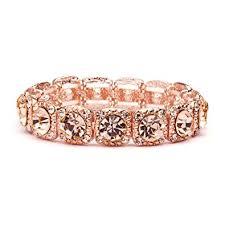 rose gold crystal bracelet images Mariell rose gold blush crystal stretch prom or jpg
