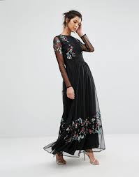 frock and frill maxi dress cheap frock and frill embroided maxi
