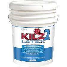 kilz 2 5 gal white water based latex multi surface interior
