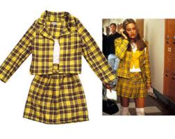 Cher Clueless Halloween Costume Sale Cher U0027s Clueless Yellow Tartan Plaid Fancy