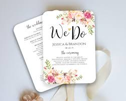 fan program wedding program fan template ceremony program fan wedding fan