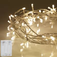 Led String Fairy Lights Warm White Battery Operated Misty Daydream