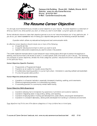 Sample Resume Work Objectives by Career Objective Examples For Entry Level