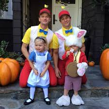 halloween costume for family neil patrick harris and family showcase gotham themed costumes for