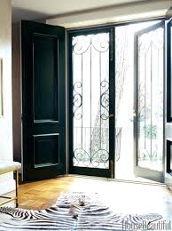 dark grey wooden front door upvc house exterior paint emerald fade