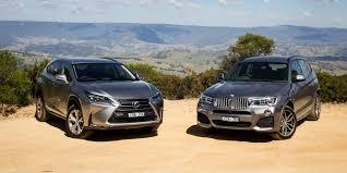 lexus nx 2016 vs 2017 bmw x3 xdrive28i vs lexus nx200t sports luxury comparison test