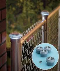Solar Fence Lighting by Solar Light Fence Cap For Chain Link Fence Outdoor Living