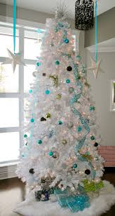 White Christmas Tree With Blue Decorations Lookandlovewithlolo Oh Christmas Tree