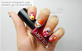 sara nail cute red winter nail art winter nails snowman nail