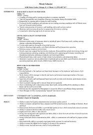 supervisor resume templates restaurant supervisor resume sles velvet