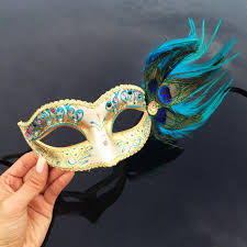 peacock masquerade masks gold masquerade mask aqua blue feathers masquerade