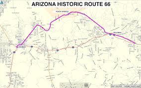 Highway Map Of Arizona by Roadrunner U0027s Bucket List Roads Historic Route 66 In Arizona