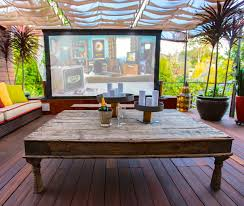 home theater los angeles hollywood hills outdoor home theater los angeles california