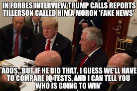 Moron Meme - trump addresses tillerson moron comment memenews