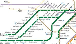 Mbta Red Line Map by Boston Green Line Kartta Jpg