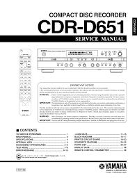 yamaha cdr d651 service manual