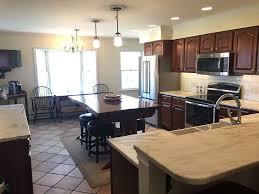 granite countertops 4 seat kitchen island lighting flooring