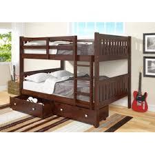Full Over Full Bunk  Loft Beds Youll Love Wayfair - Full over full bunk beds for adults