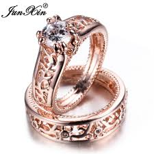 rings bridal junxin new sale men women ring set gold filled wedding