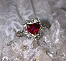 ruby engagement rings no heat