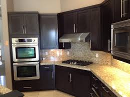 Under Cabinet Appliances Kitchen by Kitchen Traditional Kitchen Design With Black Restaining Cabinets