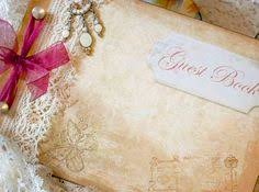 Shabby Chic Wedding Guest Book by Unique Lavender Themed Wedding Guest Book By Youruniquescrapbook