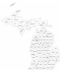 Map Of Michigan Counties by Michigan County Map With County Names Free Download