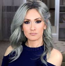 hair color for over 40 with blie eyes the 25 best blue gray hair ideas on pinterest blue steel hair