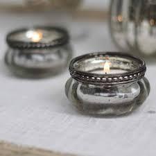 silver tea light holders mini mercury silver tea light holders with metal rim shop now