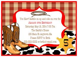 cowboy birthday party invitations crafty designs
