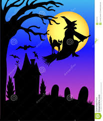 halloween witch silhouette eps stock photos image 2751713