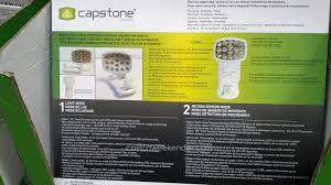 capstone wireless motion sensor light 2 pk capstone lighting led wireless motion sensor light 2 pack costco