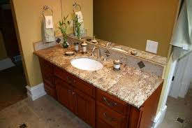 Bathroom Countertops Ideas Superb Granite Countertop With Reddish Brown Cabinet For Enticing