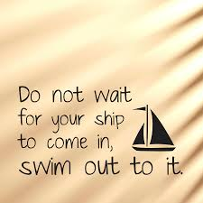 not wait for your ship wall decal sticker swim out wall quote decal