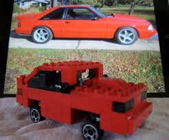 lego ford mustang lego 1992 ford mustang lx 5 0 hatchback 12 steps