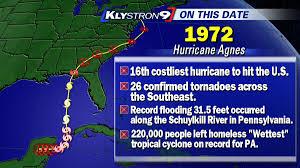 diane kacmarik hurricane agnes made landfall on this date in