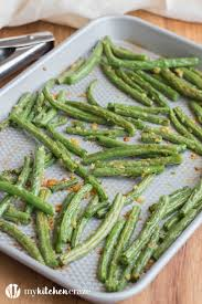baked garlic green beans with a recipe my kitchen craze