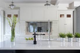 decor beautiful kitchen with white cabinet and silestone lagoon