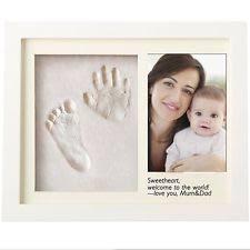 hugreat 2in1 baby handprint footprint frame tablewall ornament